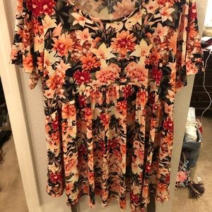 Boutique navy coral tunic size XL
